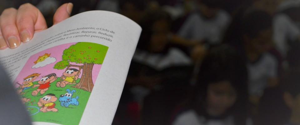 Crianças de centro educacional recebem IBICT para apresentação sobre o Pensamento do Ciclo de Vida